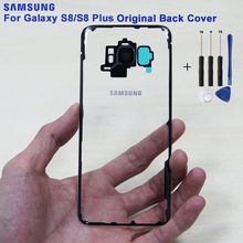 SAMSUNG Original Back Battery Door Rear Glass Case For Samsung Galaxy S8 G9500 S8Plus SM-G SM-G955 Glass Transparent Back Cover чехол для samsung galaxy s8 sm g955 silicone cover розовый