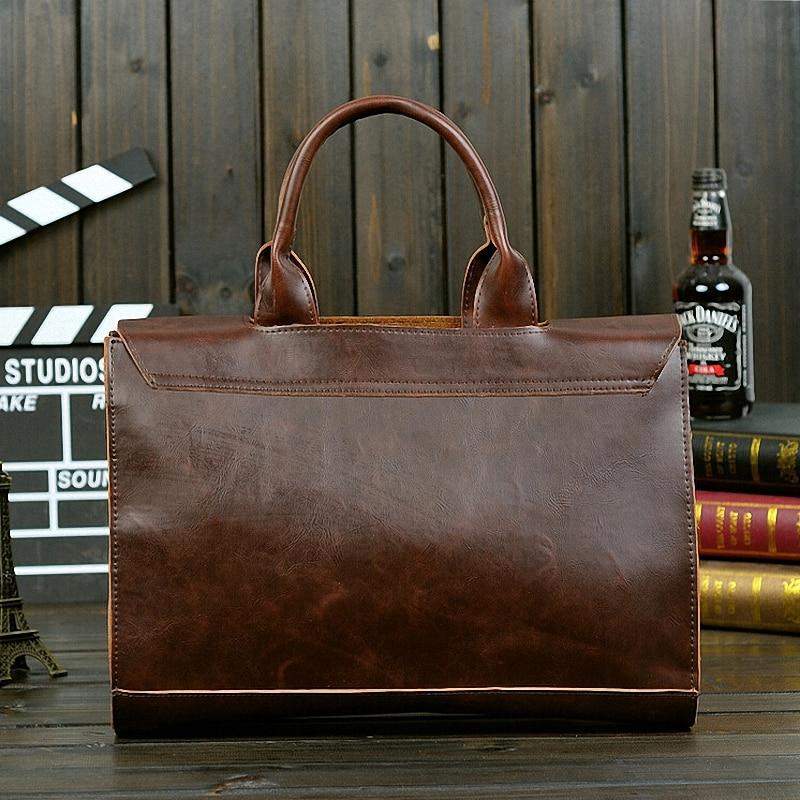 2017 new arrival men's messenger bags Leather Shoulder Messenger Business Computer Briefcase 14 inch laptop bag-JW003