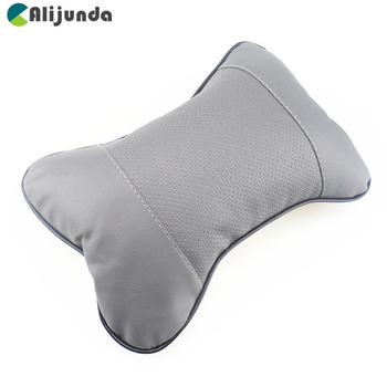 1 PCS artificial leather car seat pillow protection your neck / car headrest hole digging design for Kia Rio K2 K3 K5 K4 Cerato image
