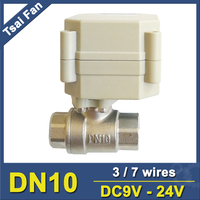 Tsai Fan TF10 S2 A Stainless Steel Motorised Valve 3/7 Wires DN10 DC9V 24V BSP/NPT Valve For Water Control System High Quality