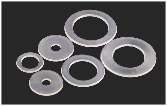 200pcs nylon Washers M16*28*1mm soft Plastic gasket transparent ...