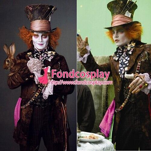 Костюм безумного Шляпника Johnny Depp Moive косплей на заказ [G1475]