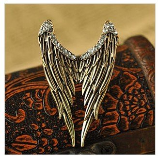 Fashion Vintage Retro Bronze Plated ange wing adjustable Jewelry rings for wome men
