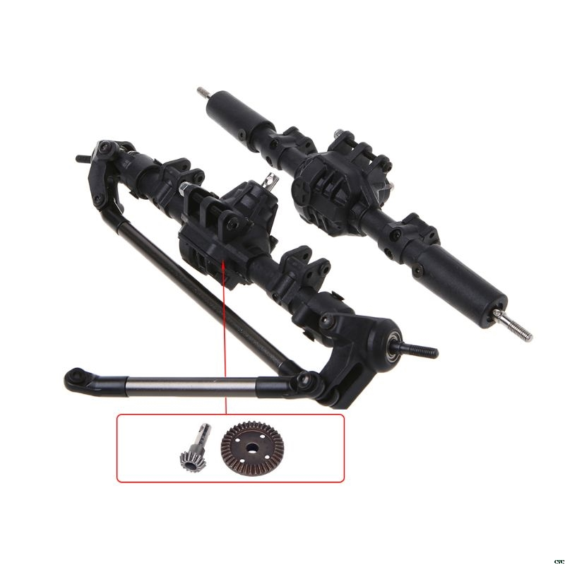 1 10 RC Crawler Complete Differential Axle for Axial SCX10 II 90046 90047 Car Upgrade Parts