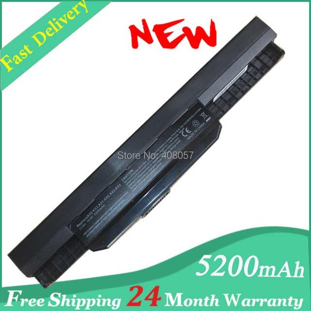 5200 mAh batería del ordenador portátil para Asus A32 K53 A42-K53 A31-K53 A41-K53 A43 A53 K43 K53 K53S wholesale X44 X43 X53 X54 X84 a53sv X53SV X53U X53B X54H