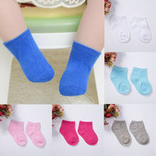 2019 Newborn Baby Shoes Toddler Socks Non-Slip Soft Cotton Bottom Child Cotton Floor Sock Summer Soft Cute 1Pairs Solid(China)