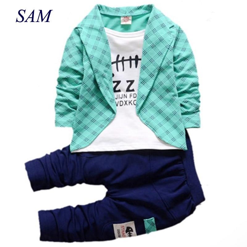 Jungen Formelle Kleidung Kinder Kleidung Für Jungen Kleidung Karierten Anzug Im September Kleinkind Anzug Set Kinderkleidung Junge Kostenloser Versand