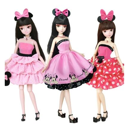 3PCS/LOT Kurhn Dolls For  Girls Toys Fashion Classic  Toys For Children Kids Best Birthday Gift+Free Stand-in Dolls from Toys & Hobbies    1