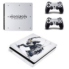 Horizon Zero Dawn PS4 Slim Sticker for PS4 Slim Console and Two Controller Skins for Sony Playstation 4 Slim Cover
