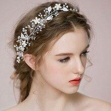Wedding Hair Accessories Photography Women Hair Jewelry Fine Bride Bridesmaid Headbands Jewellery Pearl Zircon Hair Jewelry fine art wedding photography
