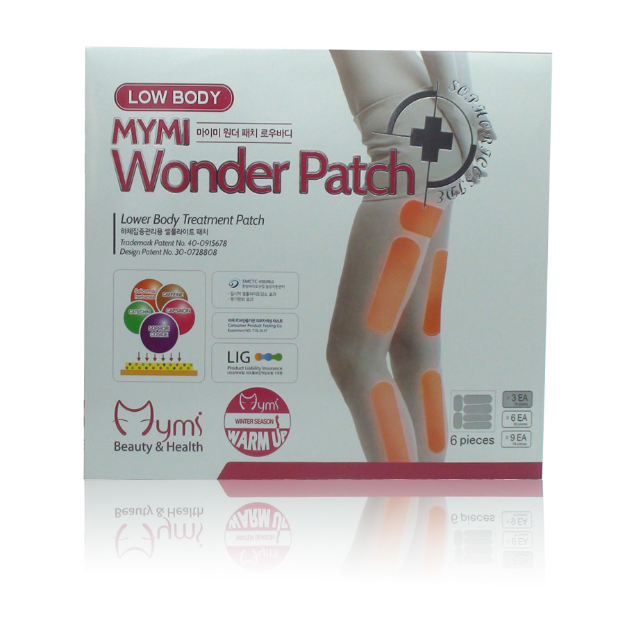 36Pcs in 1 Box Mymi Wonder Patch Lower Body Treatment Slimming Slim Patch Leg Patch Cream Plaster Lose Weight Loss C096 2