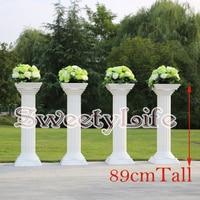 89cm Tall Wedding Roman Pillar Walkway Stand Event Road Leads 4pcs/lot FREE SHIPPING