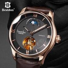e482fbf6a Bestdon الميكانيكية ووتش الرجال النخبة الهيكل العظمي التلقائي ساعة اليد  سويسرا الفاخرة العلامة التجارية رجل المرحلة