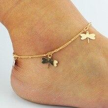 Красивая женщина стрекоза браслет женщина любимый летний подарок мода стрекоза браслет