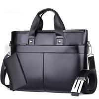 New Europe Trend Brand Men Shoulder Messenger Bag Brown Solid Color Simple Style PU Leather Noble
