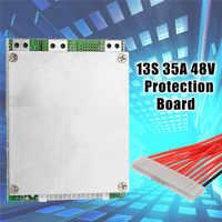 1 PC 13 S BMS 35A 48 V Li-ion De Lítio 18650 Bateria placa PCB PCM w/Equilíbrio Placa de Circuitos Integrados para a bicicleta e-ebicycle