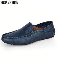 Big Size 36 47 Men Casual Shoes Men Fashion Brand Loafers Spring Autumn Moccasins Men Genuine