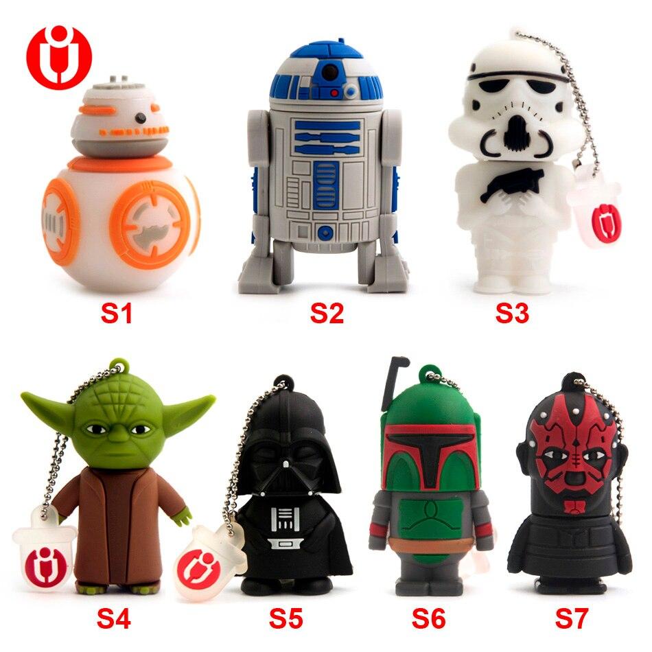 USB 2.0 Thumb Memory Stick Gift Flash Drive Real 32GB 64GB 128GB Star Wars Yoda