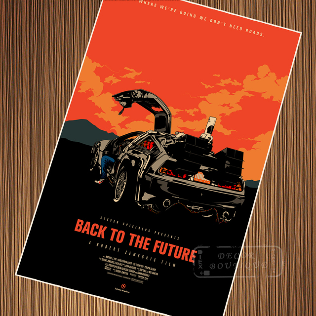 Pop Art Back To The Future Retro Vintage Sci Fi Classic Movie Posters Kraft Poster