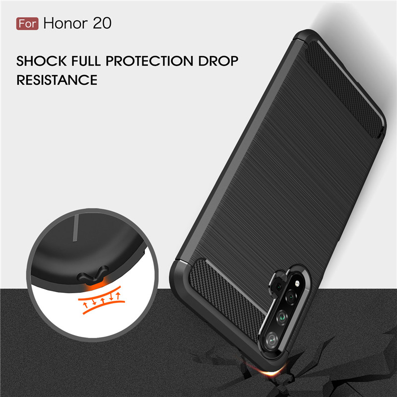 Image 2 - For Huawei Honor 20 Case Armor Protective Soft TPU Silicone Phone Case For Huawei Honor 20 Back Cover For Honor 20-in Fitted Cases from Cellphones & Telecommunications