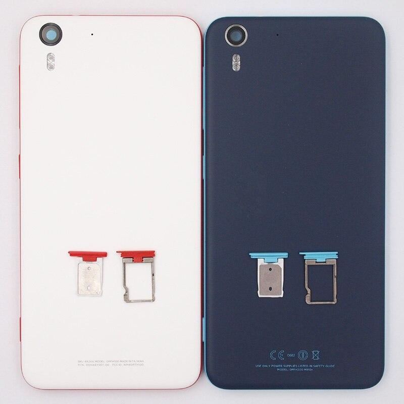 Цена за 100% новый батарейного отсека заднюю крышку sim-карты лоток корпус чехол для HTC Desire EYE M910X с Мощность Кнопки громкости
