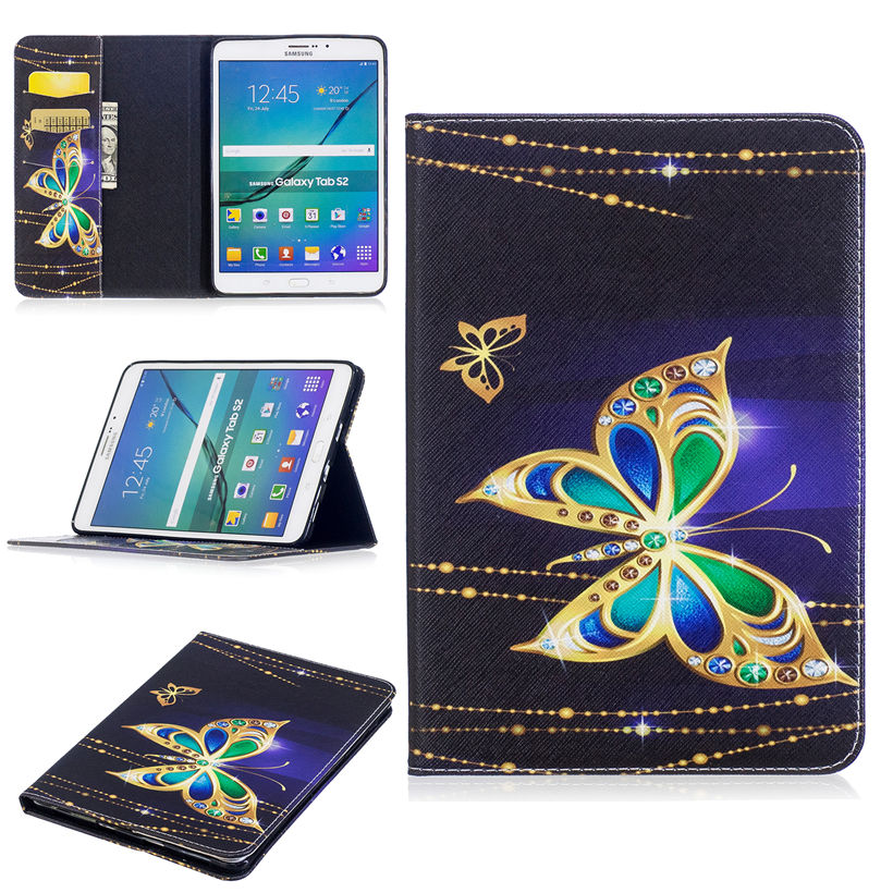 Tab S2 8.0 Inch Case Panda Pattern Cover For Samsung Galaxy Tab S2 8.0 T710 T715 T713 T719 Case Funda Tablet PU Leather Shell