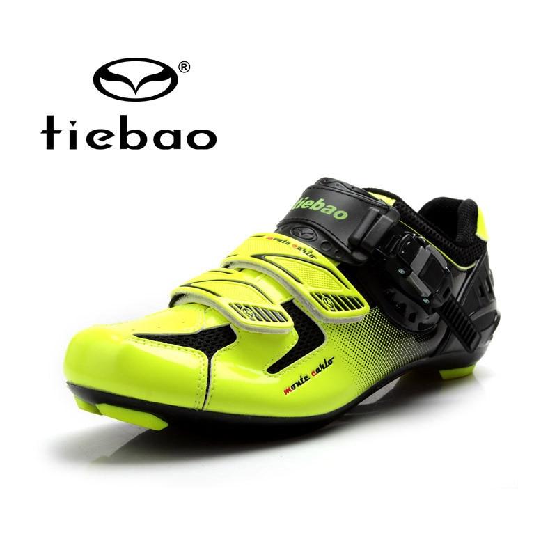 Здесь продается  Tiebao Men Cycling Road Shoes Cycling Athletic Racing Team Bicycle Shoes Auto-lock Highway Bike Shoes Zapatos de ciclismo  Спорт и развлечения