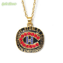 1986 Montreal Canadians Team championship pendant sport necklace for fans drop shipping(China)