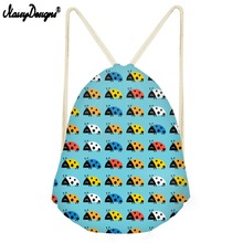 NOISYDESIGNS Drawstring Bag Zaino Backpack For Desigual Ladybug Small Children Backpacks Girls Daily Sport Bags Drop Shipping