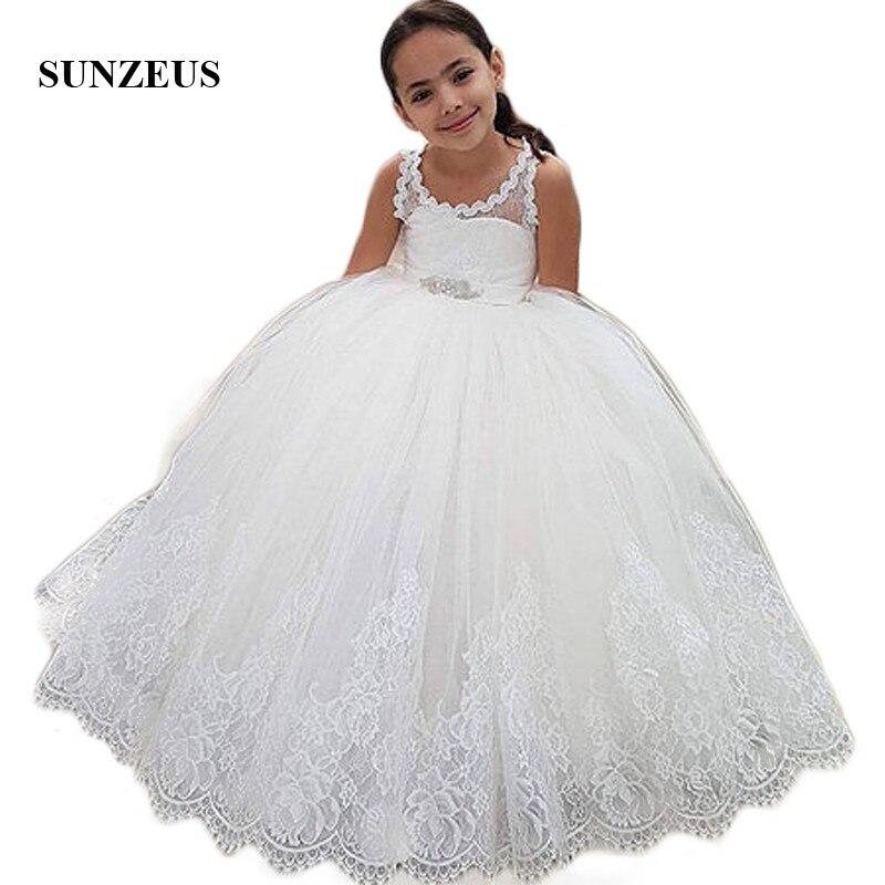 Princess Ball Gown   Flower     Girls     Dresses   Scoop Sheet Tank First Comunion   Dresses   Open Back vestido de daminha SF06