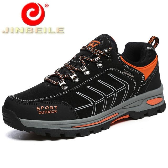 JINBEILE Anti-collision Toe Hiking Shoes Men Durable & Non-slip Outsole Men Sneakers Professional Outdoor Sports Shoes Men 39-45
