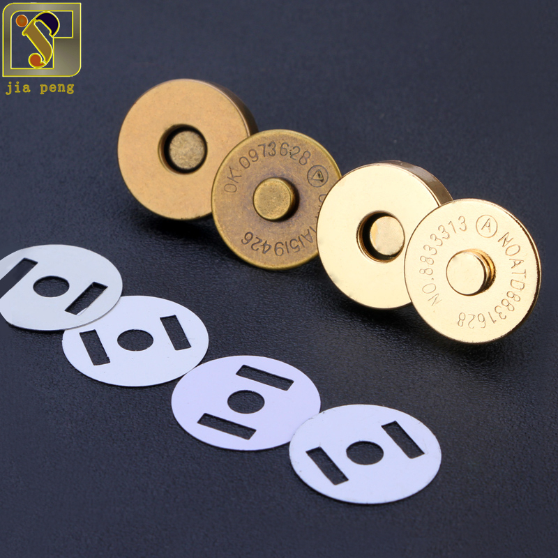 Buttons Cheap Price Magnetic Snap Fasteners Clasps Buttons Handbag Purse Wallet Craft Bags Parts Accessories 14mm 18mm Quality And Quantity Assured