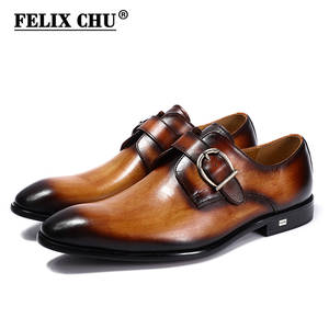 527a830d0e92 Felix Chu Genuine Leather Men Formal Shoes Wedding Dress