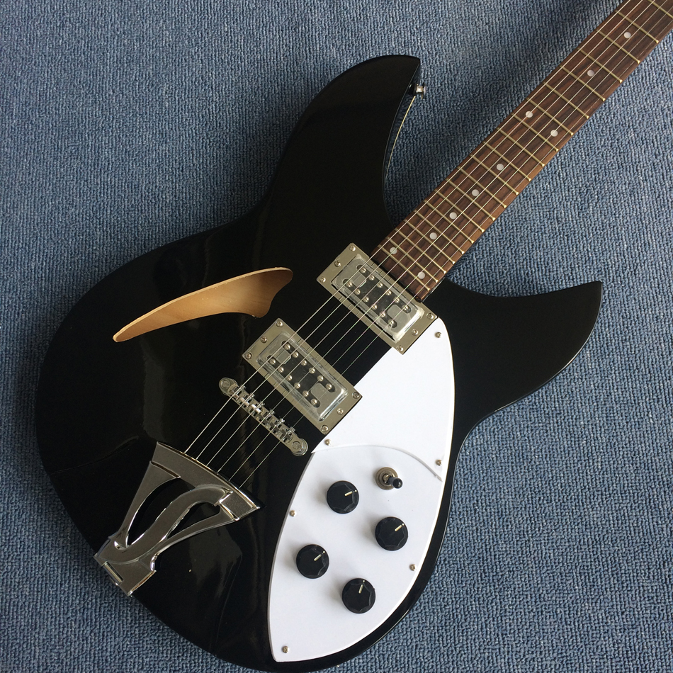 high quality custom electric guitar black guitar white strings free shipping in guitar from. Black Bedroom Furniture Sets. Home Design Ideas