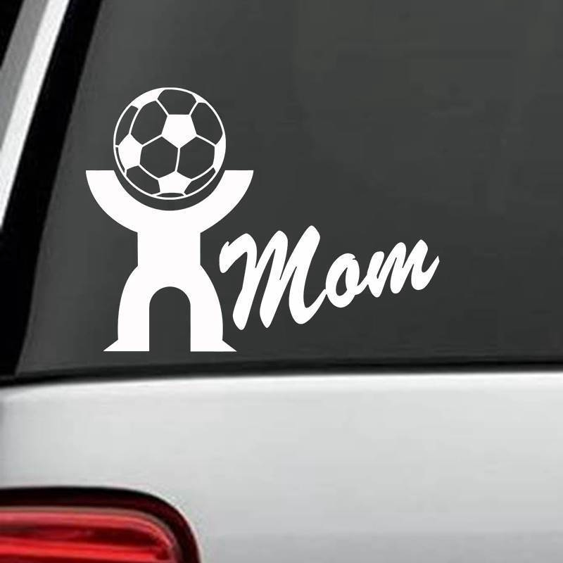 Mom Football Player Sticker Sports Soccer Car Decal Helmets Kids Room Name Posters Vinyl Wall Decals Football Sticker
