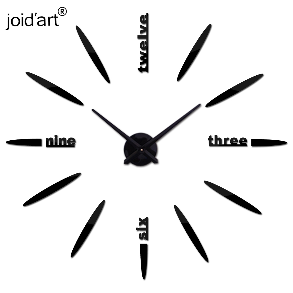 3d diy living room new acrylic quartz watch wall clock clocks reloj de pared home decoration hot sale Sticker