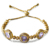 Nueva llegada Elegante diseño de moda Europea y Americana de oro Grandes y pequeños círculos Ajustable tamaño libre mujeres pulseras