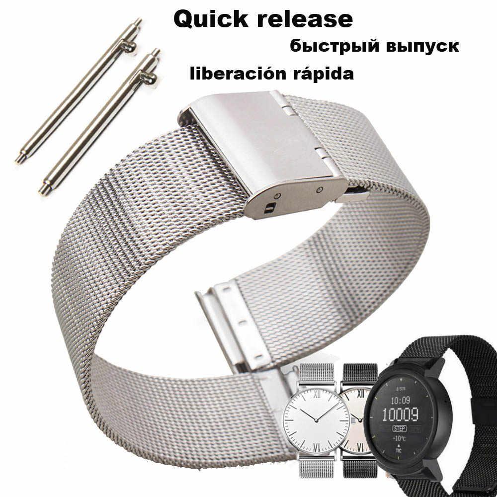 Para Xiaomi Amazfit GTS pulsera correa de reloj Amazfit Bip correa de reloj Amazfit GTR 42mm pulsera de Metal de acero inoxidable