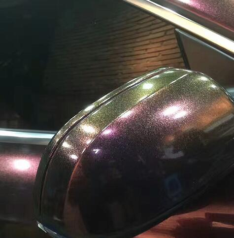 TSAUTOP 1,52X18 м пузырьки без воздуха жемчуг-Хамелеон металлическая пленка глянцевая/natte блеск автомобиля обертывание темно-красновато-фиолетовый цвет - Название цвета: matte face