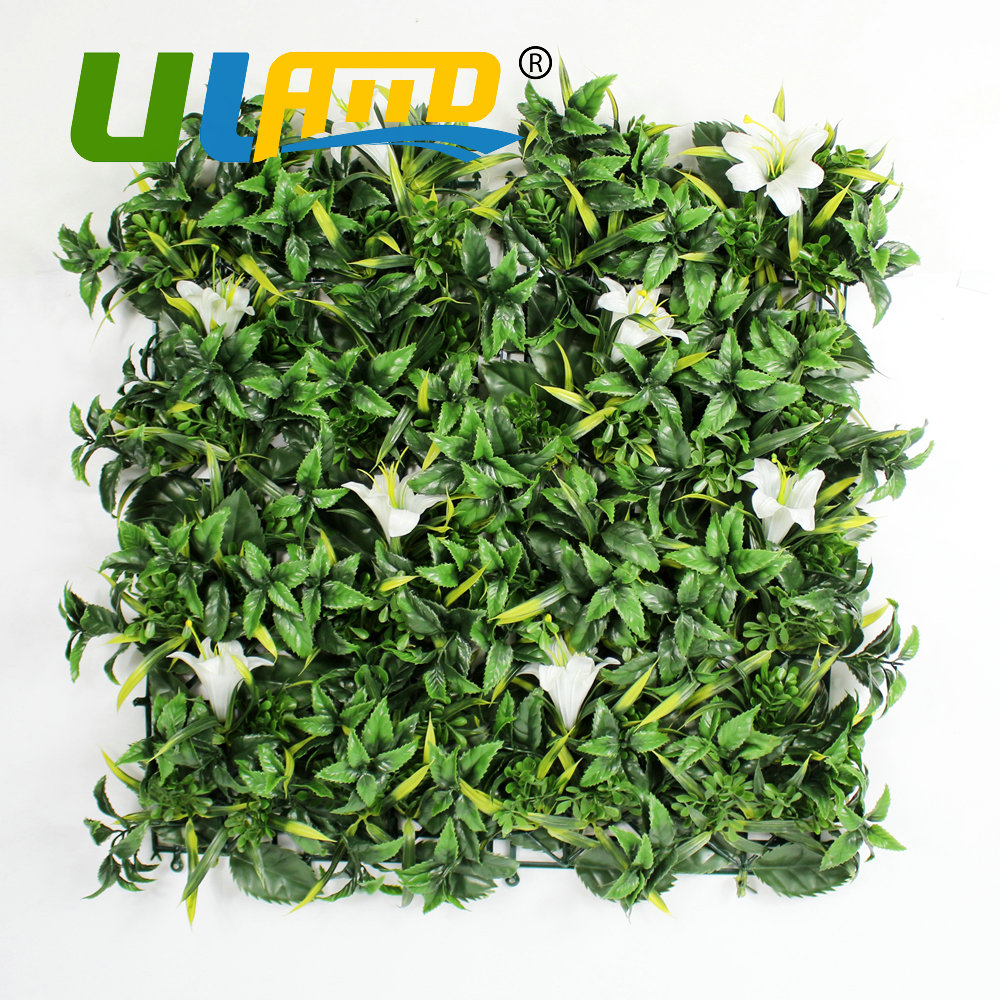 uland 25x25cmpc artificial boxwood hedgs plastic fence panels uv synthetic grass mat indoor outdoor