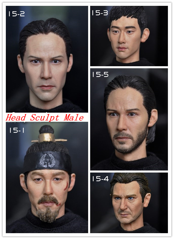 KUMIK 1/6 scale figure doll head shape for 12 action figure doll accessories male Head carved not include body,clothes 1 6 scale figure doll head shape for 12 action figure doll accessories iron man 2 whiplash mickey rourke male head carved