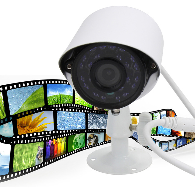 AHD 3.6MM 720P 24 Lamp Metal Waterproof Camera Blue light Outdoor Night Vision HD CCTV