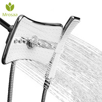 Mrosaa Rainfall Jets Spray Fixed Shower Head ABS Multi Function Massage 360 Degree Rotation Bathroom Handheld Shower Wand Combo