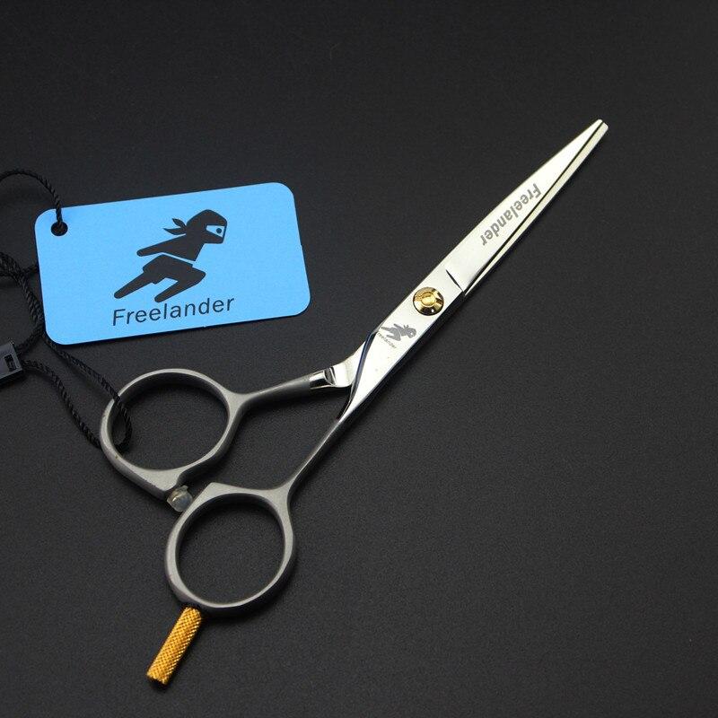 цена на Professional 5 Hair Scissors Steel Shears Hair Cutting Barber Makas Single Tail High-Grade sandblasting Hairdressing Scissors