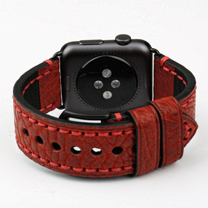Image 5 - MAIKES New Watch Band For Apple Watch 44mm 40mm / 42mm 38mm Series 4 3 2 1 iWatch Special Genuine Leather Watch Strap Watchband