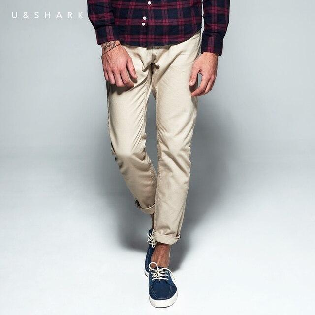 Luxury U&Shark Casual Khaki Pants Men Slim Fit Classic Cotton Urban Clothing 2016 Autumn New Brand Formal Office Trousers Male