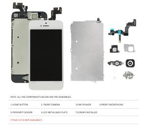 Image 2 - عرض ل فون 5 5 S 5C LCD محول الأرقام بشاشة تعمل بلمس المنزل زر كاميرا الجمعية استبدال ل فون 5 S كاملة شاشة الكريستال السائل
