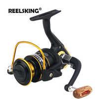 REELSKING Aluminum spool 5.5:1 wooden handle 1000 2000 2500 3000 4000 5000 6000 7000 series fishing reel