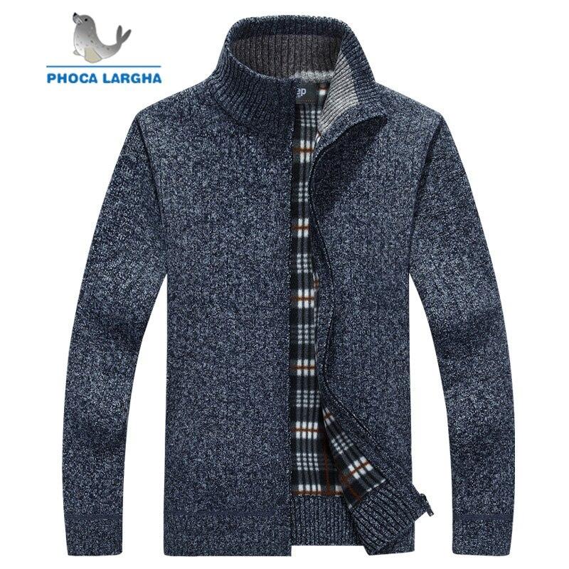 Men's Sweaters coat Spring autumn Warm Cashmere Wool Zipper Pullover Fleece Cardigan Sweaters Man Casual Knitwear Plus Size