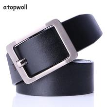 fashion men belt luxury genuine leather High quality cowhide pin buckle designer Belt Cowboy waistband Dropshipping